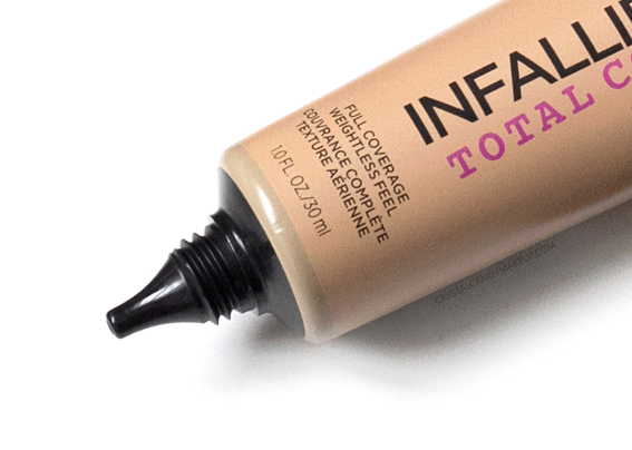 LOreal Infallible Total Cover foundation Review Photos