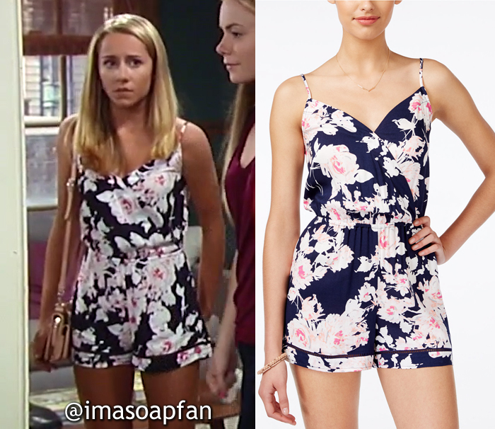 Josslyn Jacks, Eden McCoy, Floral Print Surplice Romper, General Hospital, GH
