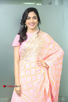Actress Ritu Varma Pos in Beautiful Pink Anarkali Dress at at Keshava Movie Interview .COM 0057.JPG