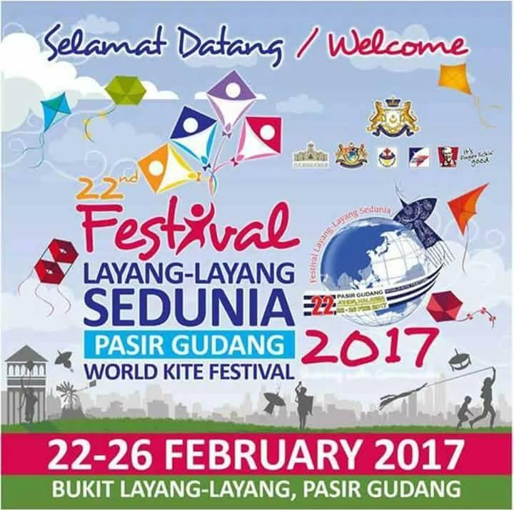 Tarikh dan lokasi Festival Layang-Layang Pasir Gudang 2017
