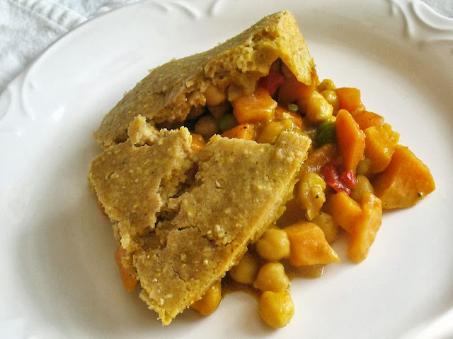 cornmeal chickpea vegetable potpie