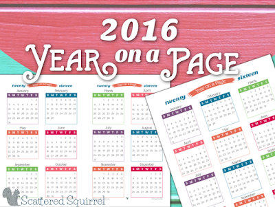 2016 full year calendar