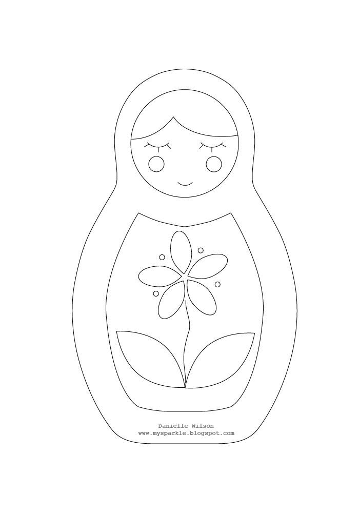 babushka coloring pages | Matryoshka Laura: Matryoshka Doll Coloring Page #1