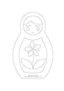 Matryoshka Laura: Matryoshka Doll Coloring Page #1