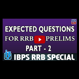 Expected Questions For RRB PO Prelims | Part 2 | Reasoning | IBPS RRB Special 2017