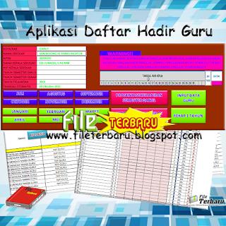 Gratis ini dibagikan secara gratis bagi anda yang menginginkan file  Unduh Aplikasi Daftar Hadir / Absensi Guru Format Excel Gratis
