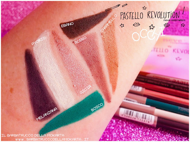 BioPastello Neve Cosmetics  pastello revolution occh swatches