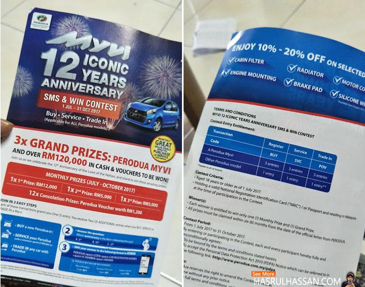 Kontest Lumayan Untuk Pemilik Kenderaan Perodua Myvi