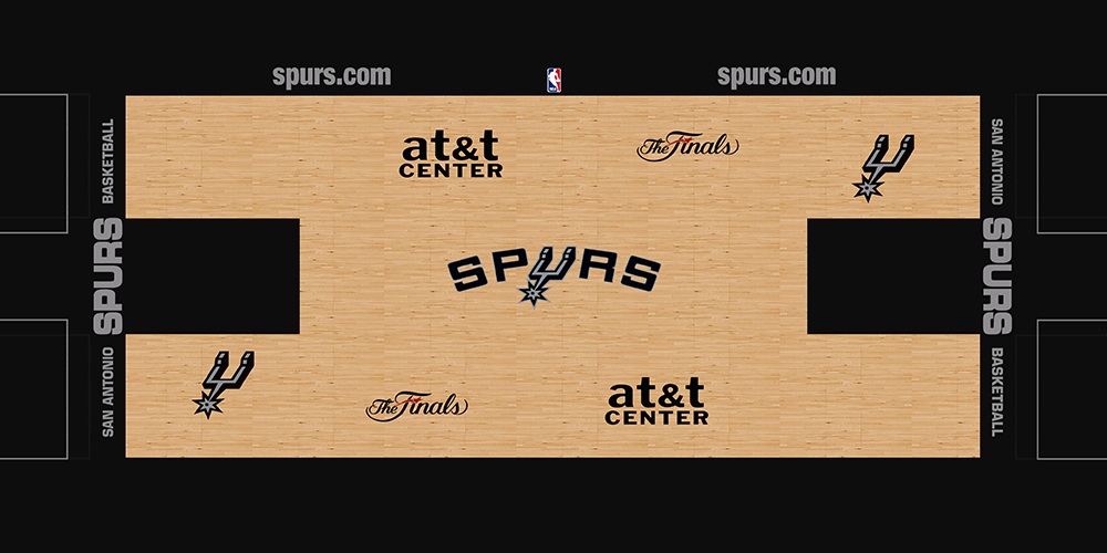 NBA 2K14 San Antonio Spurs HD Court Mod [NBA on TNT] - NBA2K.ORG