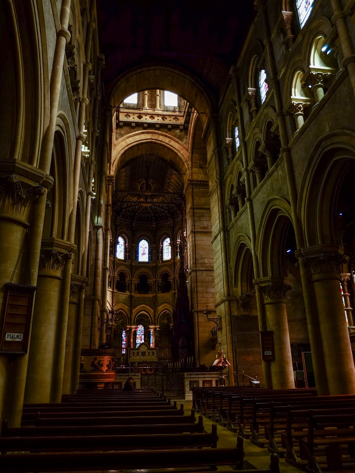 Inside of the Saint Fin Barre's Cathedral in Cork City.