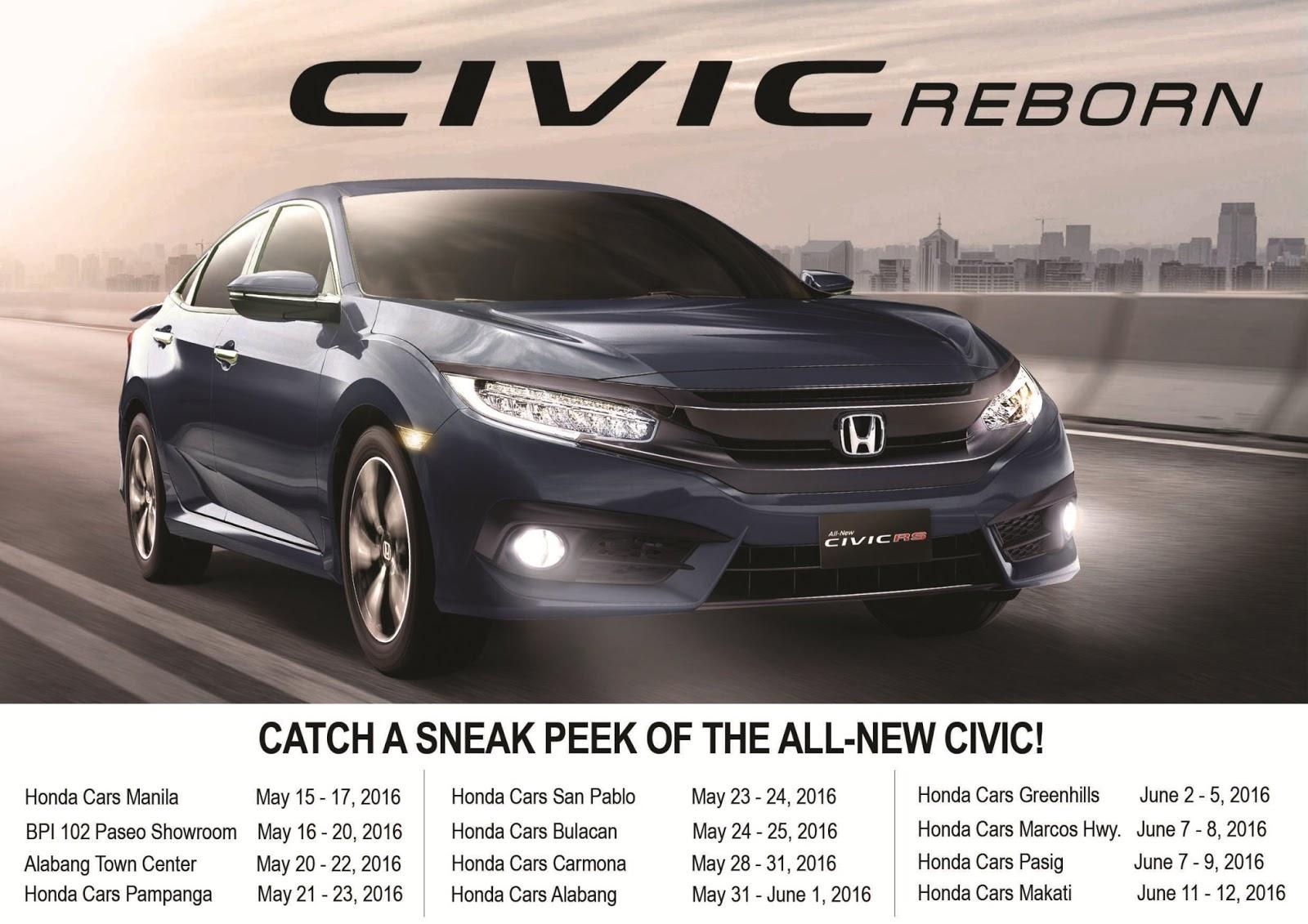 Cars Tour Schedule