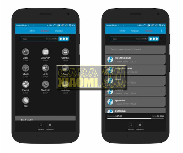 Download Thema MIUI TWRP Light Blue for Xiaomi Android