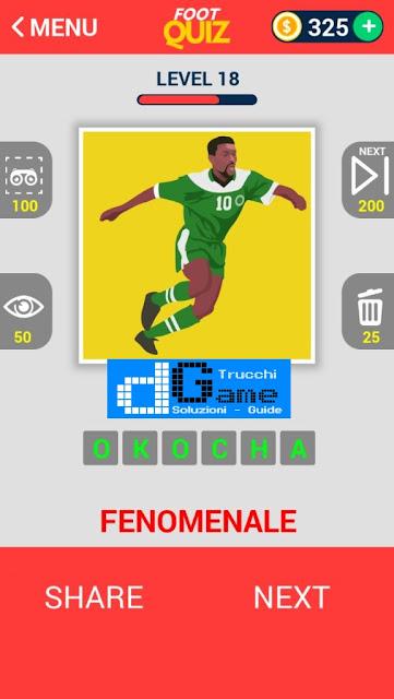 FootQuiz Calcio Quiz Football ( LEGENDS) soluzione livello 11-20