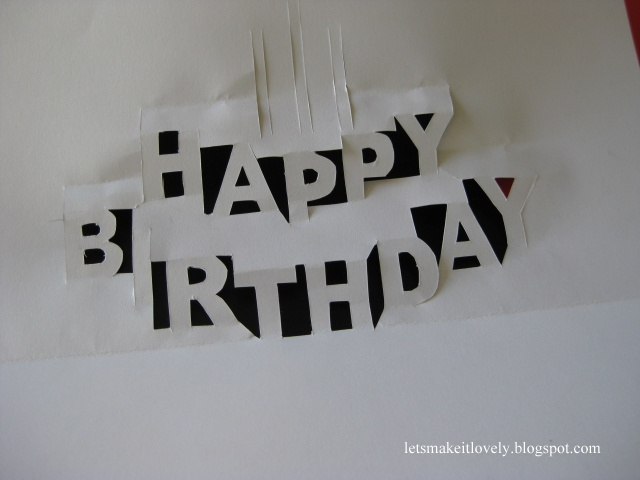 Pop Up Birthday Cake Card Template