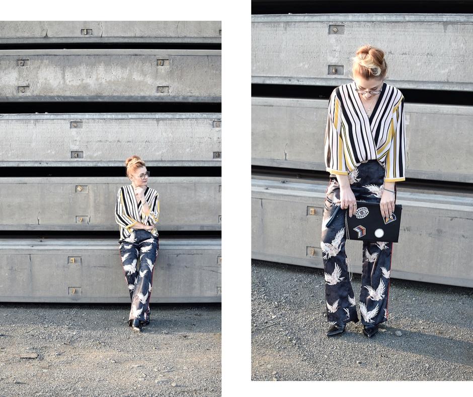 wie style ich auffällige Muster zusammen, Look mit Mustermix