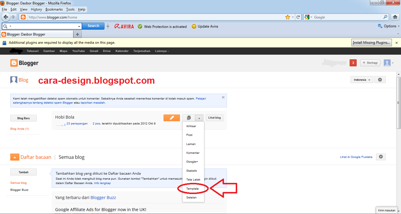 Cara mengganti template blog dari hasil download for Xml templates for blogger free download