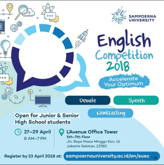 Lomba Speech English Competition Univ. Sampoerna 2018