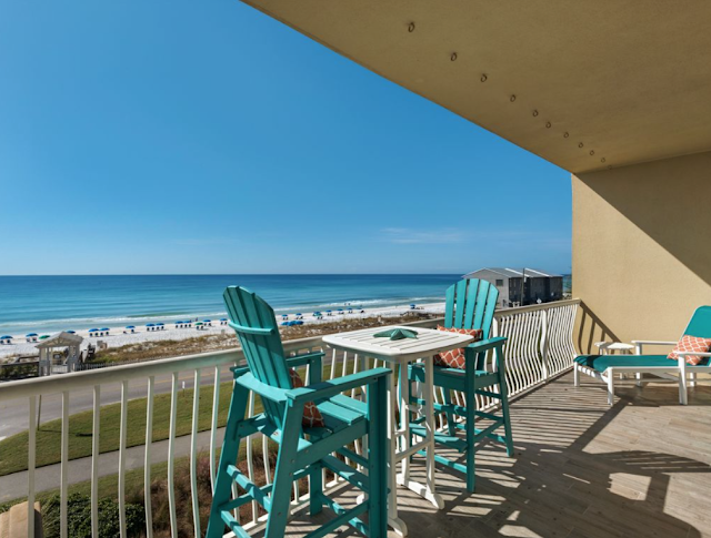 Luxury-Beach-Condo-Patio-Beach-Front-Low Density-Miramar Beach-Florida-Sundays by the Shore-From My Front Porch To Yours