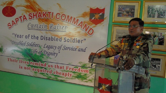Jaipur, Rajasthan, Indian Army, south western command, Sapta Shakti command, Year Of The Disabled Soldier, Lt. Gen. Cherish Mathson