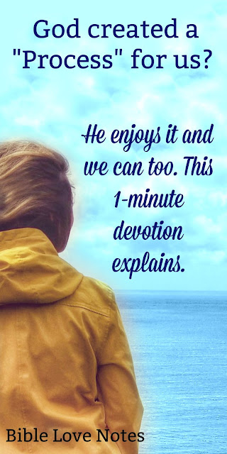 Take a moment and ponder the process God designed for our growth. This 1-minute devotion uses a wonderful analogy. Enjoy! #BibleLoveNotes #Bible