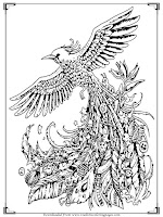 bird printable stress relief coloring pages