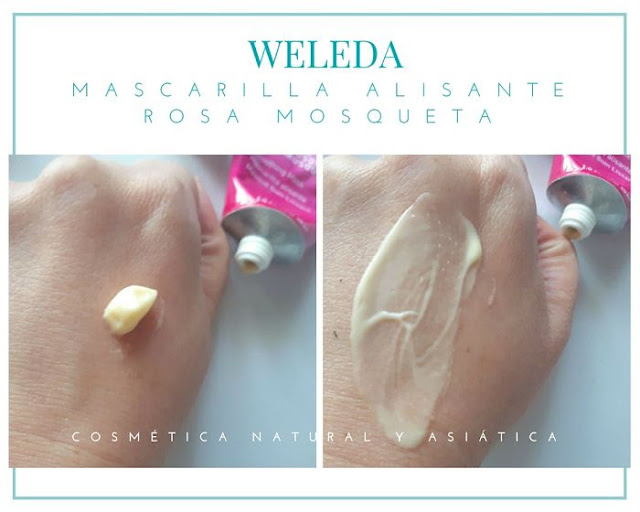 weleda-mascarilla-alisante-rosa-mosqueta-textura