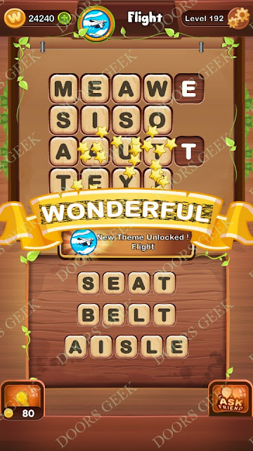 Word Bright Level 192 Answers, Cheats, Solutions, Walkthrough for android, iphone, ipad and ipod