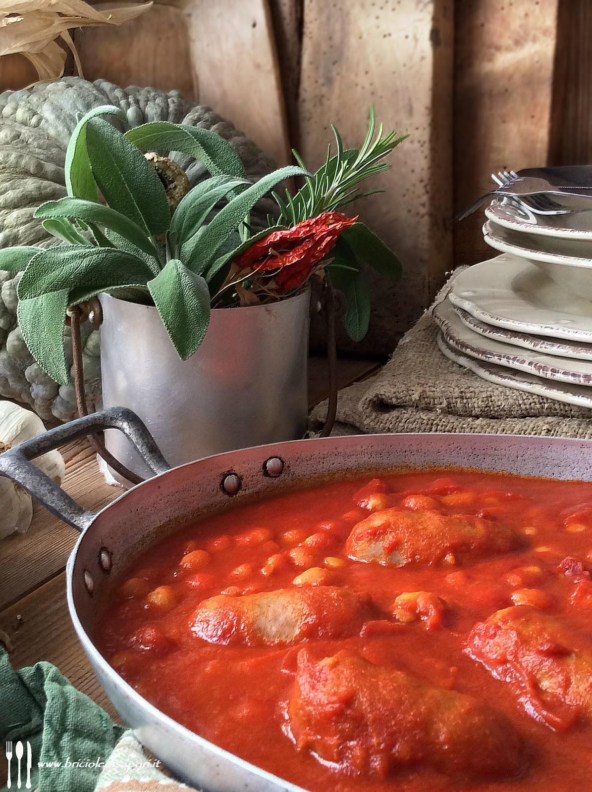 verzini al pomodoro con fagioli zolfino