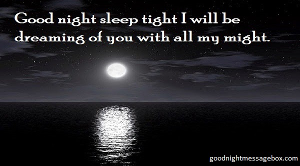 i want to declare my great love and say good night to you i promise you it will always be better
