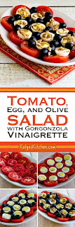 Tomato, Egg, and Olive Salad with Gorgonzola Vinaigrette found on KalynsKitchen.com