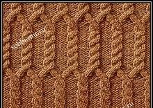 uzori s kosami dlya vyazaniya spicami so shemoi i opisaniem vyazaniya uzora