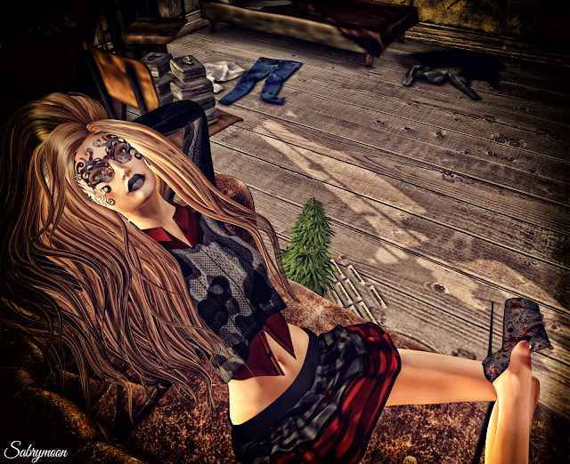 Chemical Princess Tribal Mask @ Suicide Dollz and Revange Heels @ Kinky Event