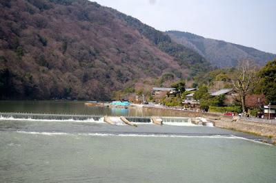 Katsura River in Arashiyama Kyoto