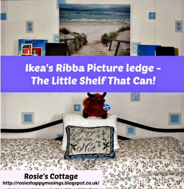 How a picture ledge can add extra storage and keep your bedside tables clear of clutter!