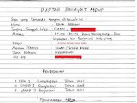 Cara Membuat/Mengisi Daftar Riwayat Hidup (CV) Yang Baik Dan Benar (Tulis Tangan ataupun Print)