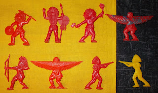 Flats, Cowboys and Indians, Flat Cowboys and Indians, Flat Figures, Flats; Indian Flats, Hong Kong  Flats, Hong Kong Toy Figurines, Polystyrene Figures, Polystyrene Toys, Small Scale World, smallscaleworld.blogspot.com, Unknown Flats, Unknown Plastic Figures, Unknown Toy Figures, Unknown Wild West, Wild West, Wild West Flats, No. 101 Plastic Toy,