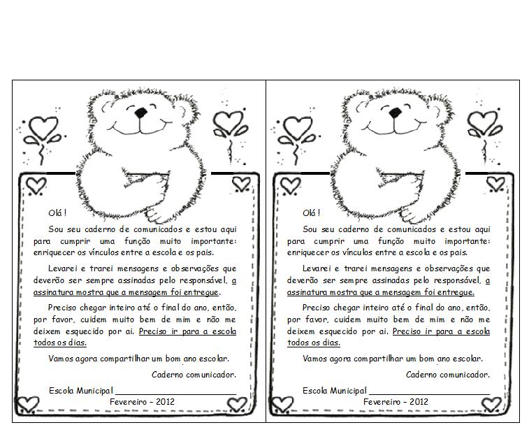 Modelo De Capa De Agenda E Recadinho Para Imprimir Só Escola