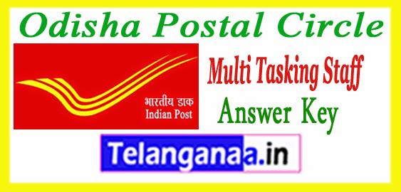 Odisha Postal Multi Tasking Staff  Answer Key 2018