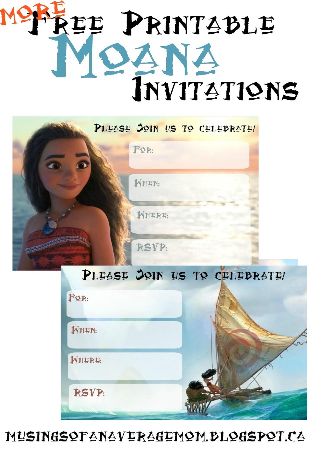 Musings of an average mom free printable moana invitations 2 for Printable moana invitations