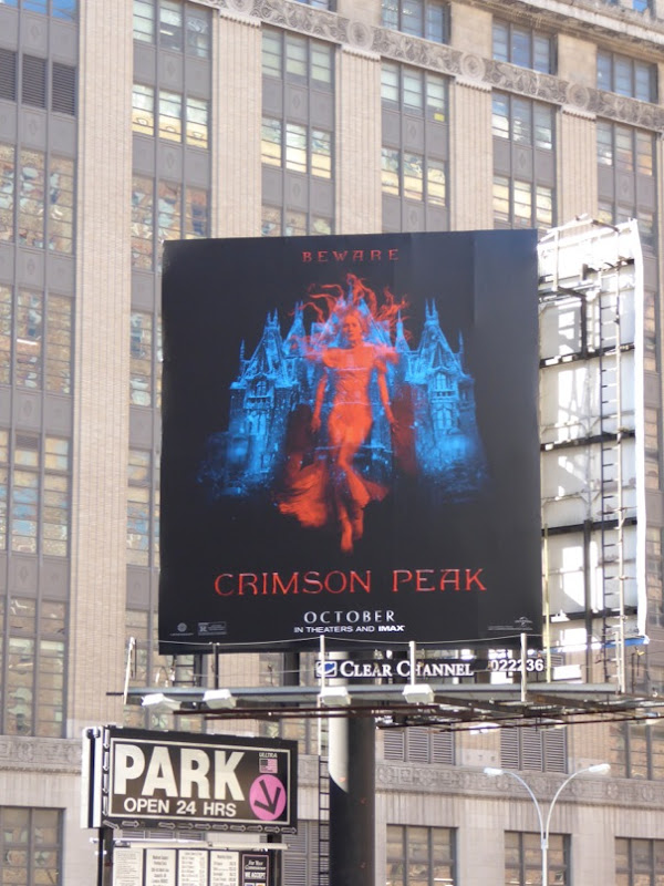 Crimson Peak movie billboard NYC