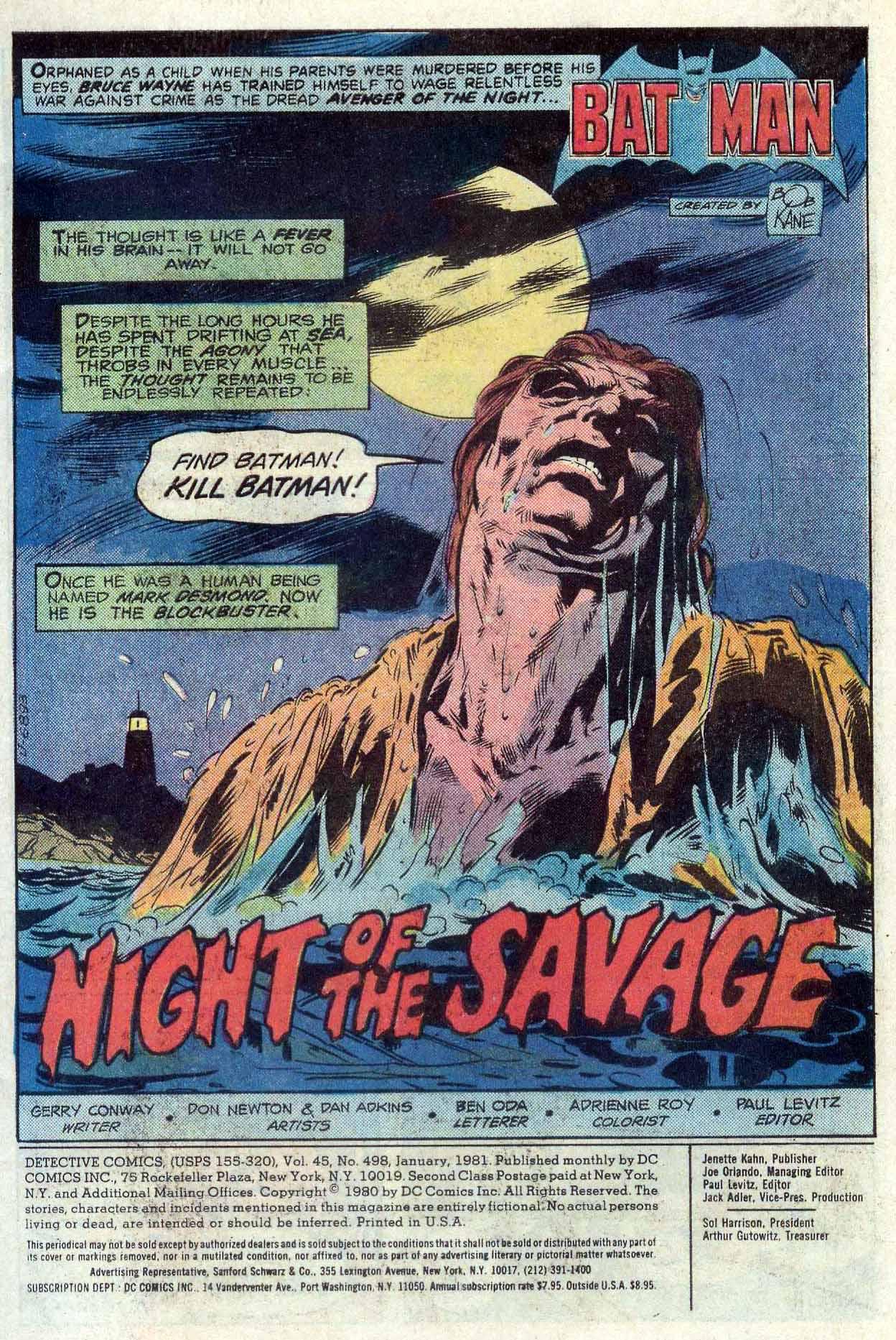 Detective Comics (1937) 498 Page 1