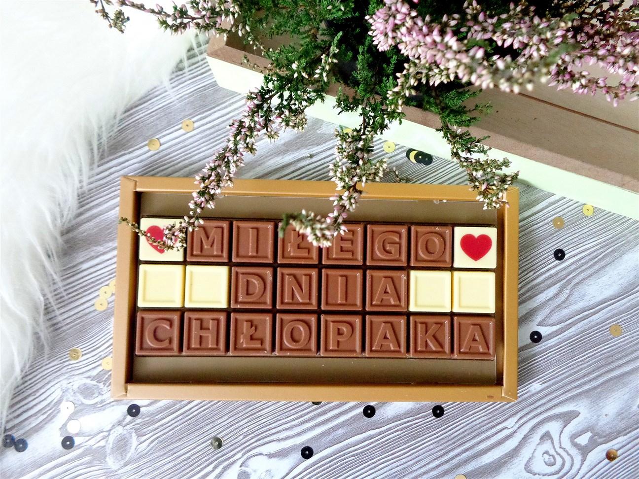 zdjęcie przedstawiające czekoladowy telegram Chocolissimo