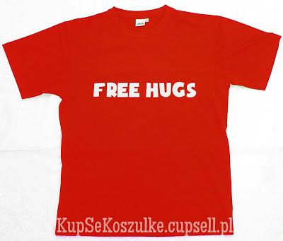 koszulka free hugs