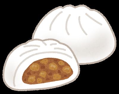 肉まんのイラスト(中華まん)