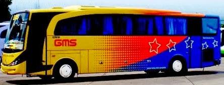 Harga Tiket Bus GMS jurusan Boyolali, Solo, Wonogiri, Baturetno, Pacitan, Ponorogo