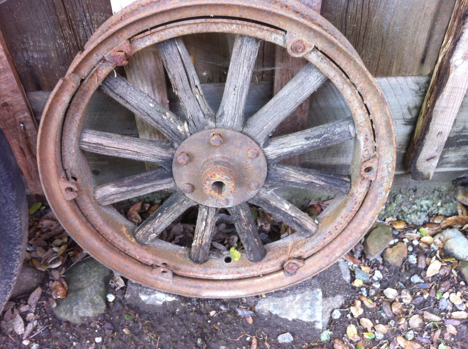 Old Spoked Car Wheels
