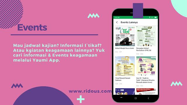 Aplikasi jadwal kajian terbaik di android yaumi ridous