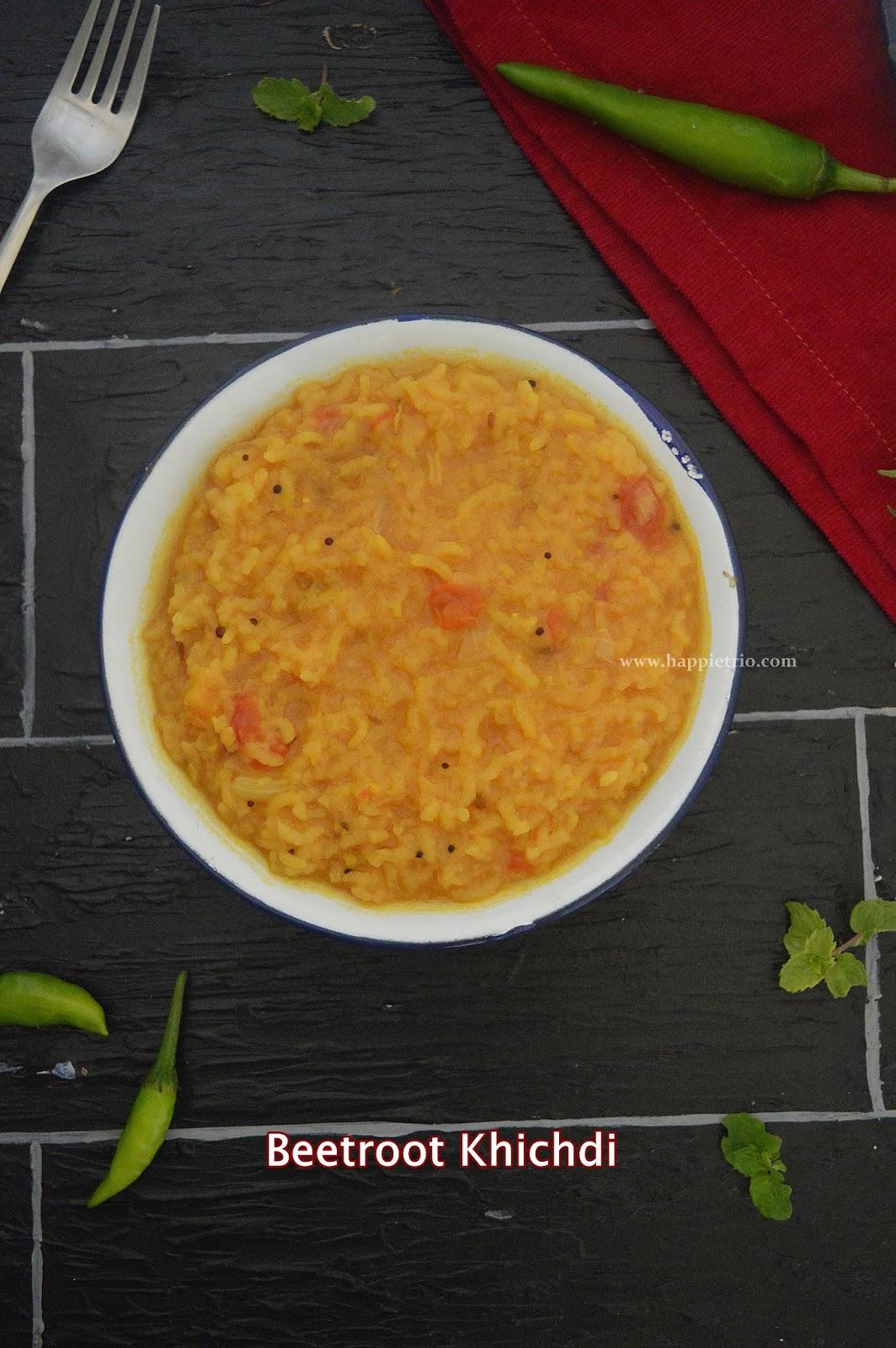 Beetroot Khichidi Recipe   How to make Beetroot Khichdi