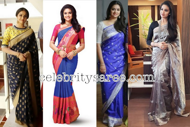 Keerthy Suresh Latest Traditional Sarees
