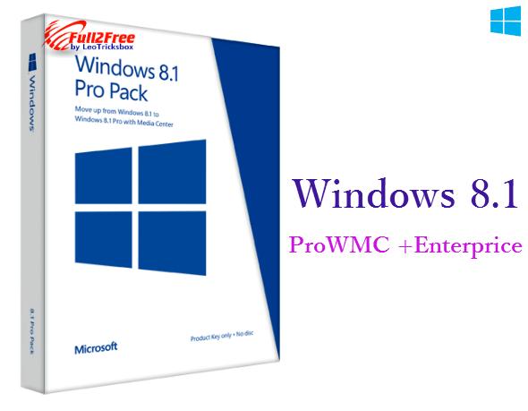 "Windows 8.1 Pro with Media Center + Enterprise ""Integrated September 2014"""